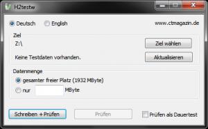 H2testw 1.4 -- Screenshot